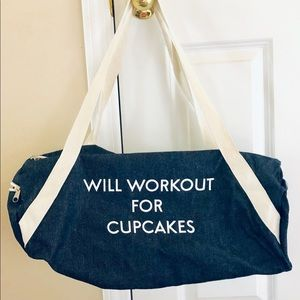Bags - NWOT Gym Bag Will work out for Cupcakes 🙂
